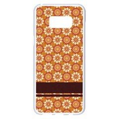 Floral Seamless Pattern Vector Samsung Galaxy S8 Plus White Seamless Case