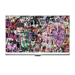 Graffiti Wall Pattern Background Business Card Holders