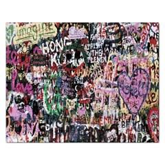Graffiti Wall Pattern Background Rectangular Jigsaw Puzzl