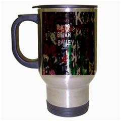 Graffiti Wall Pattern Background Travel Mug (silver Gray)