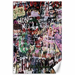 Graffiti Wall Pattern Background Canvas 24  X 36