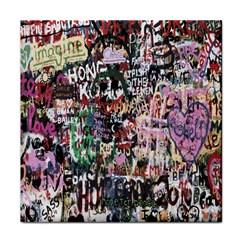 Graffiti Wall Pattern Background Face Towel