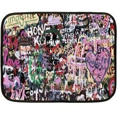 Graffiti Wall Pattern Background Double Sided Fleece Blanket (mini)
