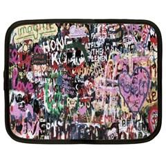 Graffiti Wall Pattern Background Netbook Case (xl)