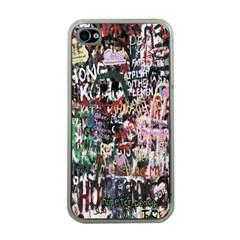 Graffiti Wall Pattern Background Apple Iphone 4 Case (clear)