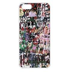 Graffiti Wall Pattern Background Apple Iphone 5 Seamless Case (white)