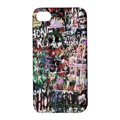 Graffiti Wall Pattern Background Apple Iphone 4/4s Hardshell Case With Stand