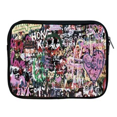 Graffiti Wall Pattern Background Apple Ipad 2/3/4 Zipper Cases