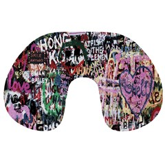 Graffiti Wall Pattern Background Travel Neck Pillows
