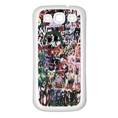 Graffiti Wall Pattern Background Samsung Galaxy S3 Back Case (white)