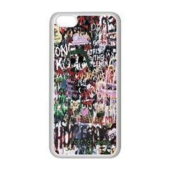 Graffiti Wall Pattern Background Apple Iphone 5c Seamless Case (white)