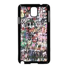 Graffiti Wall Pattern Background Samsung Galaxy Note 3 Neo Hardshell Case (black)