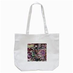 Graffiti Wall Pattern Background Tote Bag (white)