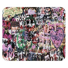 Graffiti Wall Pattern Background Double Sided Flano Blanket (small)