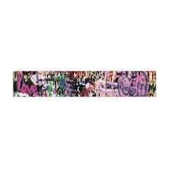 Graffiti Wall Pattern Background Flano Scarf (mini)