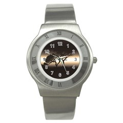 Sunset Stainless Steel Watch