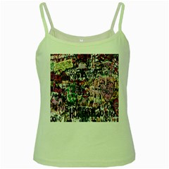 Graffiti Wall Pattern Background Green Spaghetti Tank