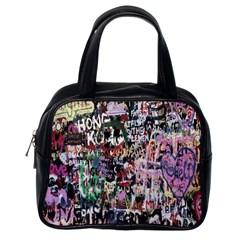 Graffiti Wall Pattern Background Classic Handbags (one Side)