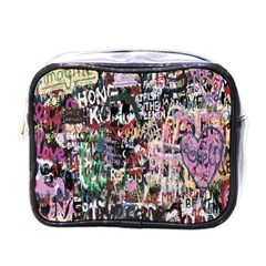 Graffiti Wall Pattern Background Mini Toiletries Bags