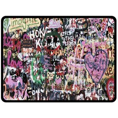 Graffiti Wall Pattern Background Fleece Blanket (large)