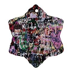 Graffiti Wall Pattern Background Ornament (snowflake)
