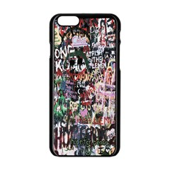 Graffiti Wall Pattern Background Apple Iphone 6/6s Black Enamel Case