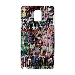 Graffiti Wall Pattern Background Samsung Galaxy Note 4 Hardshell Case