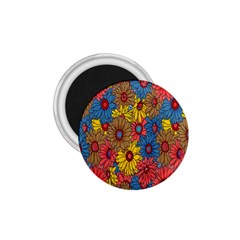 Background With Multi Color Floral Pattern 1 75  Magnets