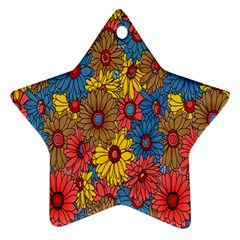 Background With Multi Color Floral Pattern Ornament (star)
