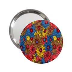 Background With Multi Color Floral Pattern 2 25  Handbag Mirrors
