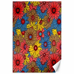 Background With Multi Color Floral Pattern Canvas 12  X 18