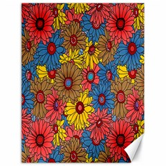 Background With Multi Color Floral Pattern Canvas 18  X 24