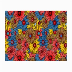 Background With Multi Color Floral Pattern Small Glasses Cloth (2 Side)