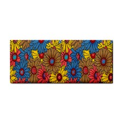 Background With Multi Color Floral Pattern Cosmetic Storage Cases