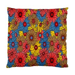 Background With Multi Color Floral Pattern Standard Cushion Case (one Side)