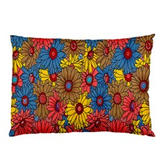 Background With Multi Color Floral Pattern Pillow Case