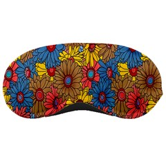 Background With Multi Color Floral Pattern Sleeping Masks