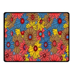 Background With Multi Color Floral Pattern Fleece Blanket (small)