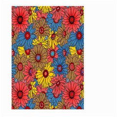 Background With Multi Color Floral Pattern Large Garden Flag (two Sides)