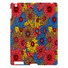 Background With Multi Color Floral Pattern Apple Ipad 3/4 Hardshell Case