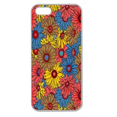 Background With Multi Color Floral Pattern Apple Seamless Iphone 5 Case (clear)