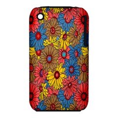 Background With Multi Color Floral Pattern Iphone 3s/3gs