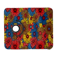 Background With Multi Color Floral Pattern Galaxy S3 (flip/folio)