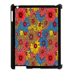 Background With Multi Color Floral Pattern Apple Ipad 3/4 Case (black)