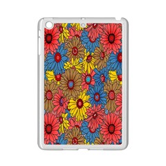 Background With Multi Color Floral Pattern Ipad Mini 2 Enamel Coated Cases