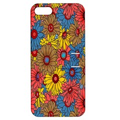 Background With Multi Color Floral Pattern Apple Iphone 5 Hardshell Case With Stand