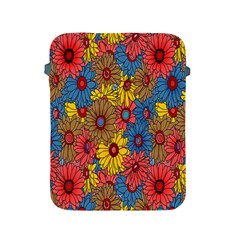 Background With Multi Color Floral Pattern Apple Ipad 2/3/4 Protective Soft Cases
