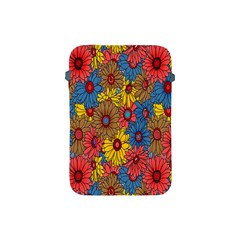 Background With Multi Color Floral Pattern Apple Ipad Mini Protective Soft Cases