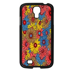 Background With Multi Color Floral Pattern Samsung Galaxy S4 I9500/ I9505 Case (black)
