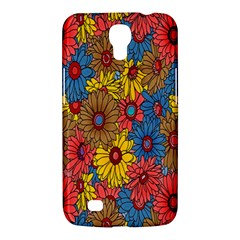 Background With Multi Color Floral Pattern Samsung Galaxy Mega 6 3  I9200 Hardshell Case